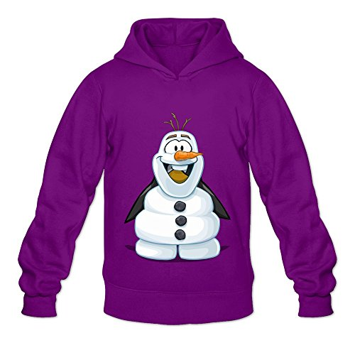 [Olaf's Costume 100% Cotton Hoodies For Men's Purple XXL Designer Hoodies] (Randy Orton Costume)