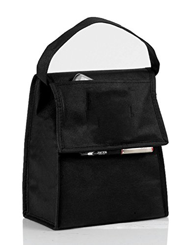 Eunichara Cooler Lunch Bag Foldable with Thermal Insulated Lining Reusable (Cooler/Warmer) - Black (Blue Ninja Turtle Name)