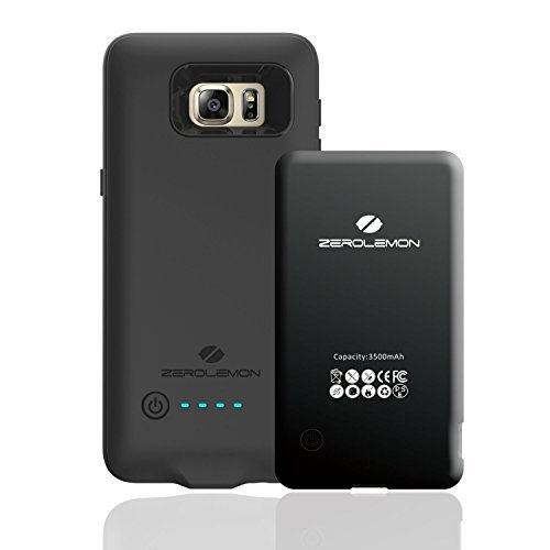 Samsung Galaxy S6 Edge Battery Case,ZeroLemon 3500mAh Slim Power Battery Case for Samsung Galaxy S6 Edge,(Fits All carriers of Galaxy S6 Edge) [180 days ZeroLemon Warranty Guarantee]-Black