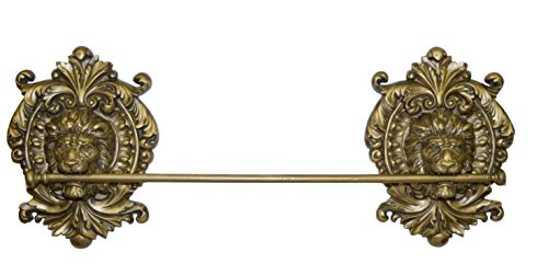 Hickory Manor House Lion Medallion Towel Bar/Antique Gold