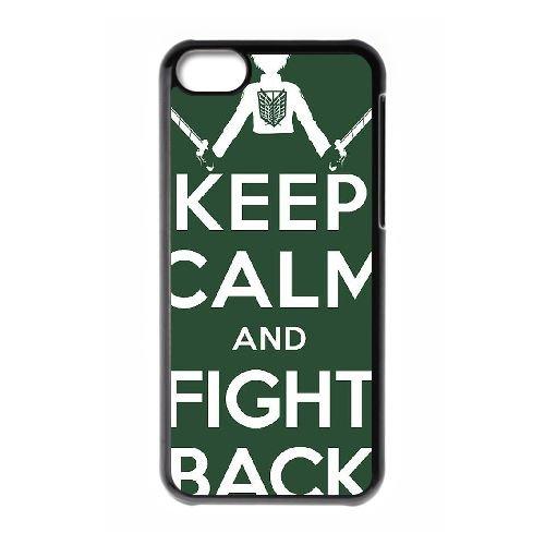 Attack On Titan coque iPhone 5C Housse téléphone Noir de couverture de cas coque EBDOBCKCO14225