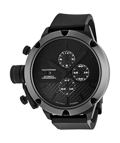 U-Boat Men's Classico Automatic Limited Edition Chrono Black/Black Carbon Fiber Dial Black Rubber