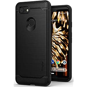 Ringke [Onyx] Compatible with Pixel 3 Case [Extreme Tough] Compatible Rugged Flexible Protection Durable Anti-Slip TPU Heavy Impact Shock Absorbent Case for Google Pixel 3 - Black