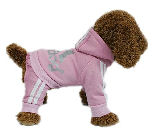 [YAAGLE Pet Warm Sweater Hoodie Coat Sweatshirt Clothes Costume Apparel for Dog Puppy Cat,Pink] (Dachshund Giraffe Costumes)