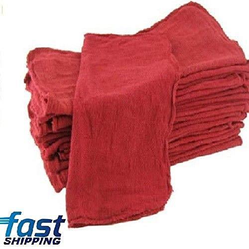 Best red Shop Towels Shop rag Mechanics 13x13 100 Pack