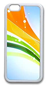 3D Colorful Ribbons Custom iphone 6 plus 5.5inch Case Cover TPU White