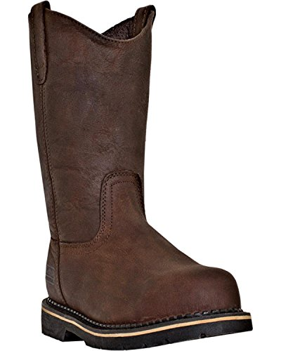McRae Industrial 11 Steel Toe Men's Brown Leather Boots 7 W