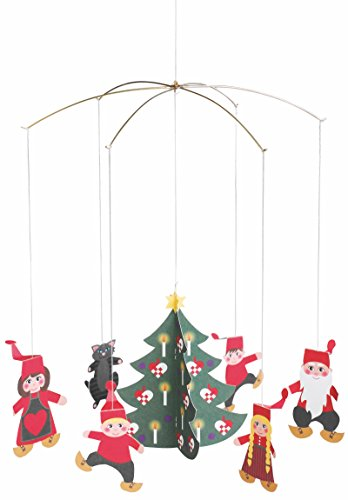 Flensted Mobiles Pixy Family Hanging Mobile - 11 Inches (Holiday Hanging Mobile)