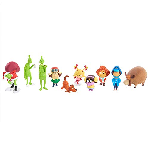 The Grinch Who-Ville Collection Set - 10 Deluxe Figures, Feature Amazing Character Detail, Come in Dynamic Poses, Great for Both Kids and -
