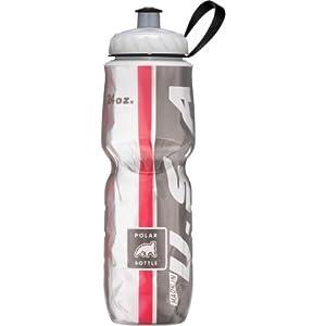 Polar Bottle Sport Insulated 24 oz Water Bottle - Red/Black