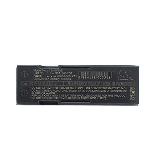 (Replacement Battery for MINOLTA DG-X50-K DG-X50-R DG-X50-S DiMAGE X50 DiMAGE X60 PENTAX Optio Z10 Samsung L77 Part NO DB-L30, DB-L30A NP-700 D-LI72 SLB-0637)