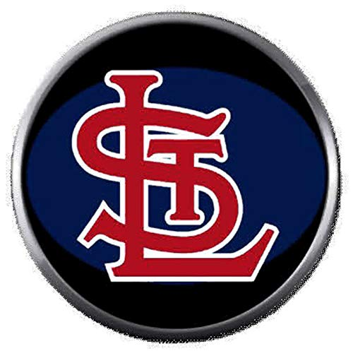 (STL MLB St Louis Cardinals Baseball Blue Logo 18MM - 20MM Snap Jewelry Charm)