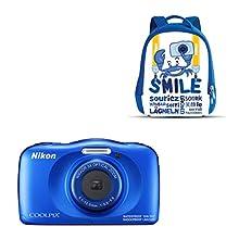 """Nikon Coolpix W 150 - Cámara Digital compacta de 13.2 MP (Pantalla LCD de 3"""", Video Full HD, Impermeable, estabilizador óptico) Azul"""