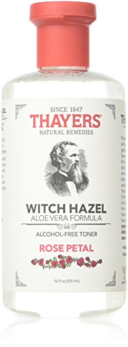 THAYERS Alcohol-Free Rose Petal Witch Hazel with Aloe Vera, 12 Ounce (Pack of 3)