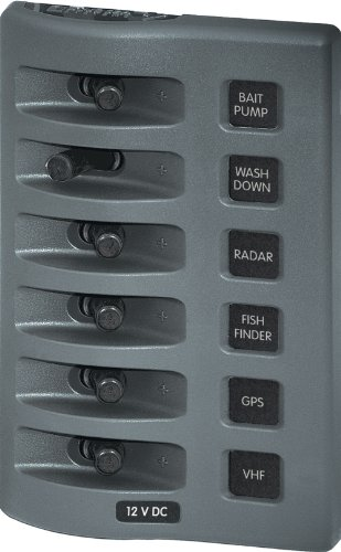 Blue Sea Systems WeatherDeck 12V DC Waterproof 6-Position Switch Panel