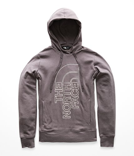 The North Face Women's Trivert Pullover Hoodie Rabbit Grey/Silver Foil Medium