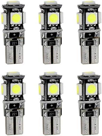 [スポンサー プロダクト]のために適した Ford Escape Kuga 2013 車内ランプLED ドームライト バルブ ライセンスプレートライ ウェッジ ポジションランプ 置換灯 ホワイト 白 高輝度 爆光12V 6個