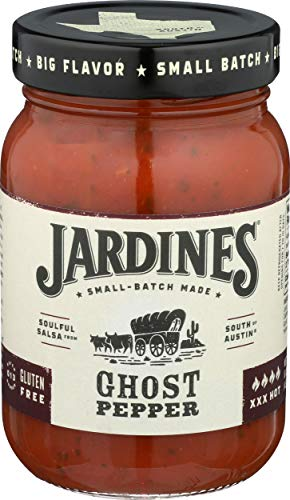 (Jardine's 7J Ranch Ghost Pepper Salsa, XXX Hot, 16 Ounce)