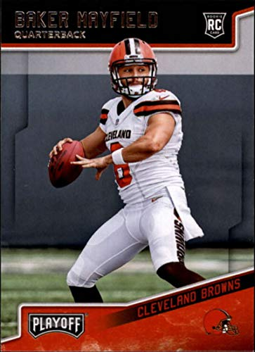 (2018 Playoff Football #202 Baker Mayfield SP RC Rookie Cleveland Browns Rookie Official NFL Trading Card made by Panini)