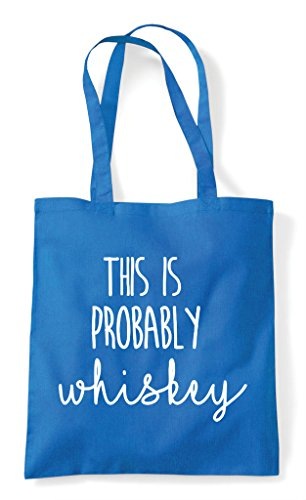 Probably Statement Tote Shopper Is Whiskey This Bag Sapphire Otw5vq