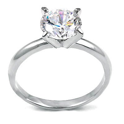 Stunning Solitaire Engagement Ring, Basket Set Lucida Style Round Center Stone