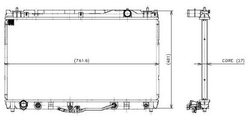 Denso 221-0504 Radiator