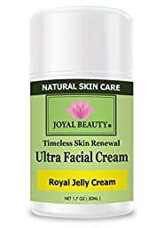 Royal Jelly Cream by Joyal Beauty-Ultra Facial Cream.Enriched with Bee Propolis,Honey.Royal jelly -World\'s Most Nutrient-rich Substances, Packed with Vitamins A, B, C, D, E, K. Soothe and Nourish.
