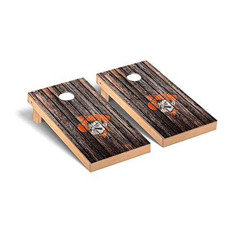 Victory Tailgate Regulation Collegiate NCAA Weathered Series Cornhole Board Set - 2 Boards, 8 Bags - Oklahoma State Cowboys