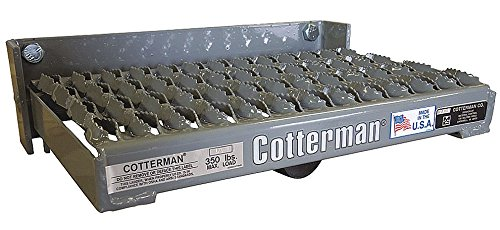 Manual Fold-Up Step, 15 in. L, 4 in. H by Cotterman