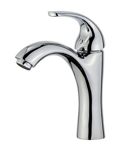 Bellaterra Home 10165B1-PC Seville Single Handle Bathroom Vanity Faucet in Polished - Countertop Seville Sink Bathroom