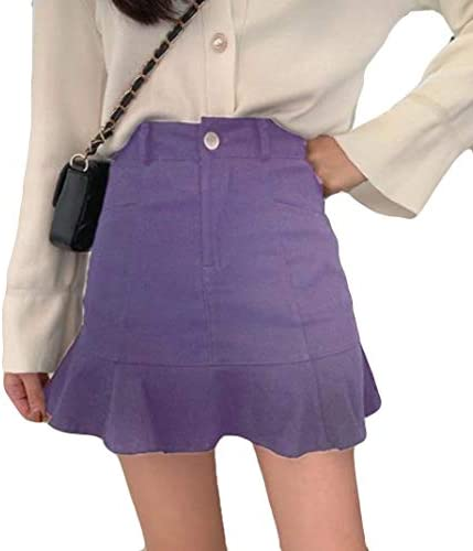 Ellteマーメイドスカート 春 夏 ミニスカート ハイウエスト 美脚 半スカート タイトスカート フレア 無地 韓国風スカート オフィス 通勤 ショートスカート aライン ファッション
