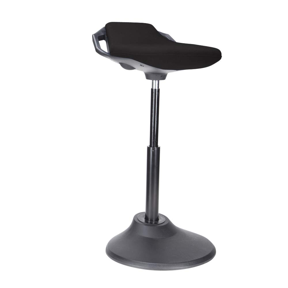 Uprite Ergo Active Stool Adjustable Height Chair for Desks & Workstations (Black)