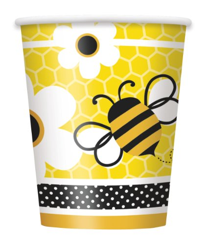 9oz Bumble Bee Party Cups, 8ct