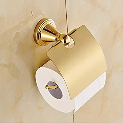 LAONA Euro-Copper Gold Bathroom Wall is a Built-in Shelf Toilet Paper Holder Toilet Brush