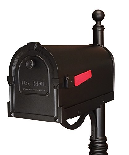 Special Lite Products SCS-1014-BLK Savannah Curbside Mailbox, Black