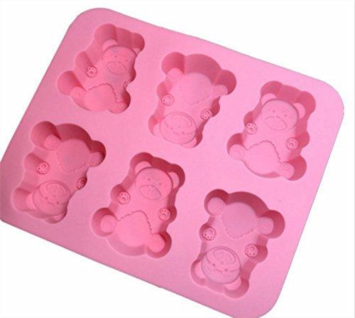 daorier moldes silicona Six oso DIY cortadores Jelly Ice Pastel ...