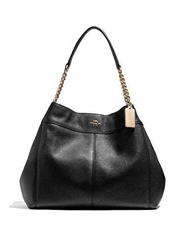 (Coach Lexy Pebble Leather Shoulder Bag)