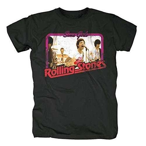 The Rolling Stones–Retro Foto (SOME GIRLS)–Offizielles Herren-T-Shirt