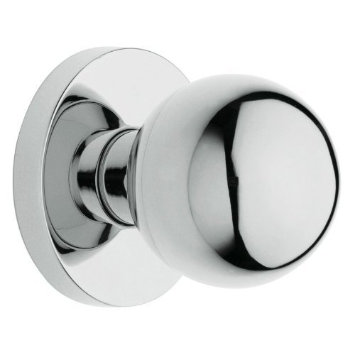 5041 Knob - Baldwin 5041.260.PASS Estate Passage Knob Latch Set, Polished Chrome