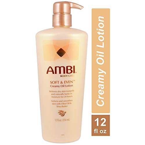 Ambi Skincare Soft & Even Creamy Oil Lotion, 12 Ounce