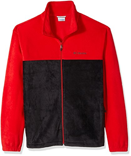 Columbia Men's Cascades Explorer Full Zip Fleece Jacket, Red Spark, black, Medium Black Mens Explorer Jacket