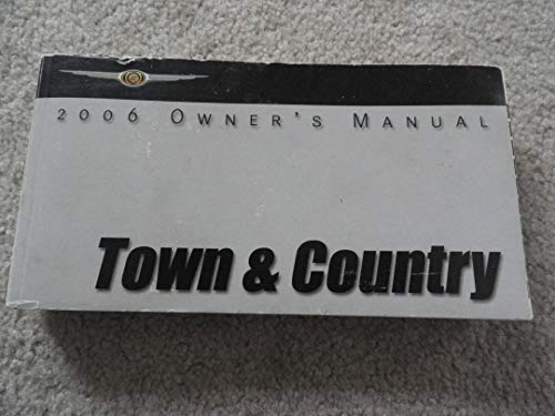 Original 2006 Chrysler Town and Country Owners Manual - 502 Pages