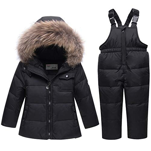 Kids Winter Puffer Jacket and Snow Pants 2-Piece Snowsuit Skisuit Set