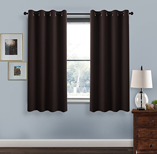 Blackout Curtains for Living Room - PONY DANCE Durable Home Dressing Window Curtain Panels/ Drapes for Bedroom,52