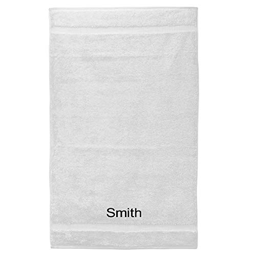(Personalized 27x54 Turkish Cotton 700+ GSM Luxury Hotel & Spa 4 Pack Eco-Friendly Bath Towels, White)