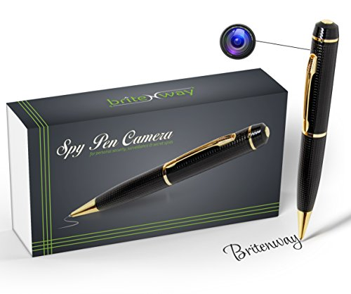 Spy Pen Camera - Tech Gadget -1280720 High Resolution DVR, Video Camcorder, Webcam, Pictures & Audio - Mini Hidden Security & Surveillance Secret Agent - with free 8 GB SD Card