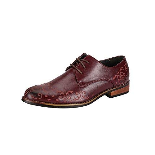 Mlsopx 43 Vestir Transpirables De Redbrown Cuero Hombre Negocios Zapatos Para F67rzqFU