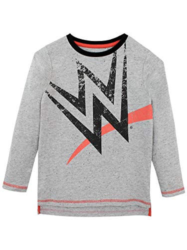 WWE Boys' World Wrestling Entertainment Long Sleeved Top Size 12 Gray