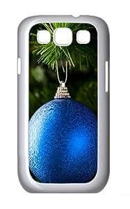 Blue Ornament Custom Hard Back Case Samsung Galaxy S3 SIII I9300 Case Cover - Polycarbonate - White