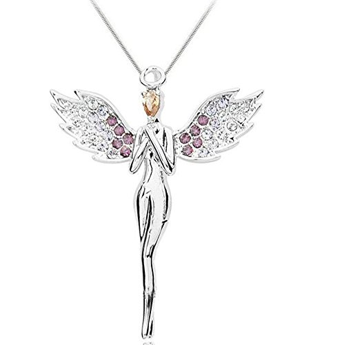 Angel multicolor crystal Car Charm for rear view mirror in Exquisite Colors (Crystal Angel Charm)